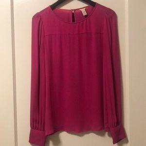 J Crew Pink Silk Blouse (size 2)